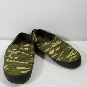 The North Face Green Printed Slip On Slippers 8